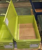 Metal Storage Chest L 1000mm x W 560mm x H 380mm - Light green