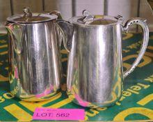 2x EPNS Coffee Pots.