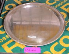 EPNS Round Serving Tray 400mm Dia.