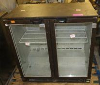AS SPARES OR REPAIRS - 2 door display fridge