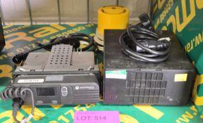 Motorola DM3400 Radio & Back Up Battery 13.8V.