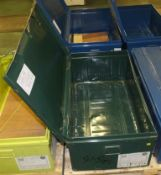 Metal Storage Chest L 1000mm x W 560mm x H 380mm - Dark green