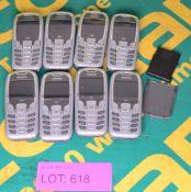 8x Siemens Mobile Phones - Batteries may be missing.