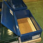Metal Storage Chest L 1000mm x W 560mm x H 380mm - Blue