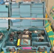 Makita DHP458 Drill Portable 18V 1x Battery & Charger in Carry Case.