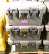 3x Cambo Green Plastic Food Container L650 x W440 x H310mm.