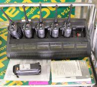 Motorola DP3600 Hand Radio x5 & 6-Bank Charger.