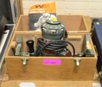 Watford 31976 Router 240V in a Wooden Box.