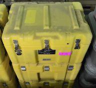 3x Plastic Case Yellow Empty L600 x W400 x H360mm.