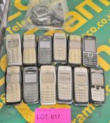 12x Nokia Mobile Phones - Batteries may be missing.