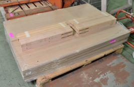 19x Headboard Double Bed Oak Effect L1410 x H450mm.