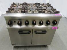 Lincat OG7002 6 burner range oven, natural gas