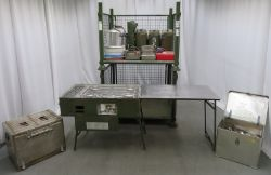 British Army No 5 field cooker & G1 No 5 hot box field oven sets (shipping is available by pallet)