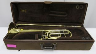 Bach Stradivarius model 42 trombone with case. Serial number: 28787.