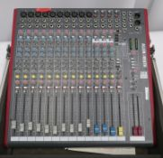 Allen & Heath Z16FX audio mixing desk in flight case. Serial number: Z16FXX-345606.