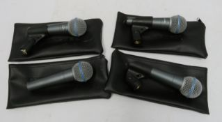 4x Shure BETA 58A microphones (as pictured).