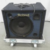 Roland KC550 keyboard amp in flight case. Serial number: CZ83020.
