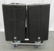 2x HK Audio 112XA monitor speakers. Serial numbers: 20307790 & 20307741.