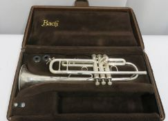 Bach Stradivarius model 37 ML trumpet with case. Serial number: 520718.
