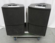 2x EM Acoustics M-12 monitor speakers. Serial numbers: MI2081210/03 & MI2081210/06.