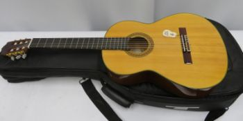 Yamaha CG-151S acoustic guitar with case. Serial number: 91224521.