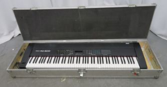 Roland RD-500 electric piano in flight case. Serial number: ZG32929.