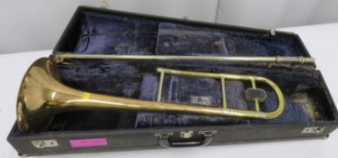 Boosey & Hawkes sovereign trombone with case. Serial number: 675255.