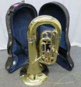 Miraphone Eeb 1261 tuba with case. Serial number: 9031538.