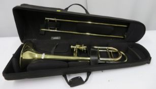 Edwards Instruments 321CF trombone with case. Serial number: 0801003.