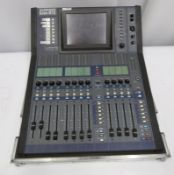 Allen & Heath iLive R72 mixing console in flight case. Serial number: ILR72-720694.