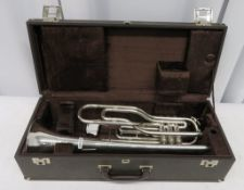 Boosey & Hawkes Imperial tenor trumpet with case. Serial number: 445172.