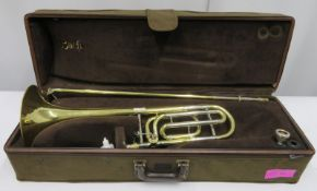 Bach Stradivarius model 42 trombone with case. Serial number: 98216.