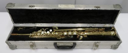 Henri Selmer 80 super action series 2 soprano saxophone with case. Serial number: N.533401.