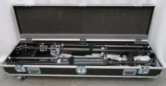 Manfrotto wind up stand lighting kit in flight case. Please see pictures for contents.