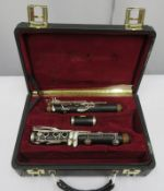 Buffet Crampon L Green clarinet missing bell section with case. Serial number: 424529.