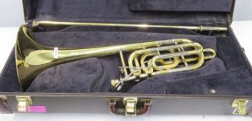 Bach Stradivarius model 50BL trombone with case. Serial number: 42323.