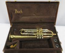 Bach Stradivarius model 43 ML trumpet in case. Serial number: 424177.
