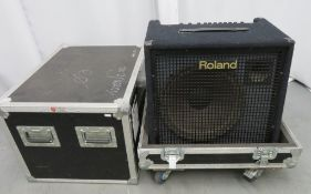 Roland KC-500 stereo mixing 125w keyboard amplifier in flight case. Please note that this