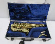 Henri Selmer Super Action 80 Series 2 tenor saxophone in case. Serial number: N.608133.