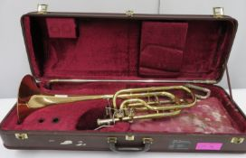 Besson Sovereign trombone with case. Serial number: 830422.