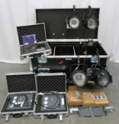 Lighting kit in flight case. Please see pictures for contents.