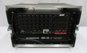 Allen & Heath iDR-32 rack in flight case. Serial number: IDR32-X315983.
