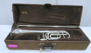 Bach Stradivarius model 42 trombone with case. Serial number: 96579.