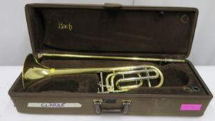 Bach Stradivarius model 42 trombone with case. Serial number: 41064.