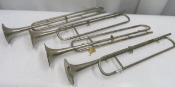 4x unbranded cavalry trumpets.