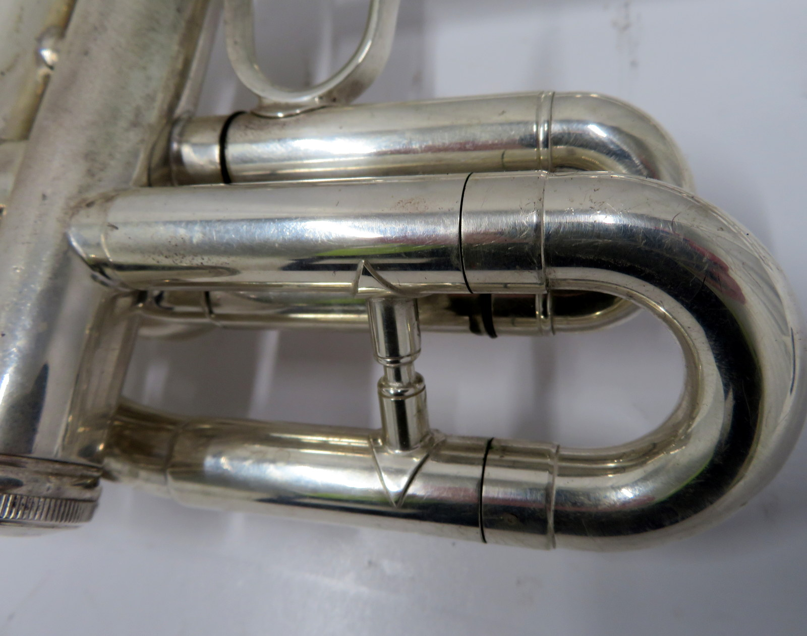 Lot 19 - Smith-Watkins fanfare trumpet with case. Serial number: 787.