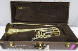 Bach Stradivarius model 50B bass trombone with case. Serial number: 85116.