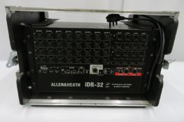 Allen & Heath iDR-32 rack in flight case. Serial number: IDR32-X315281.