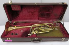 Besson Sovereign model 943GS trombone with case. Serial number: 839103.