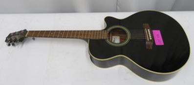 Takamine G Series model EG260C-BL acoustic guitar. Serial number: TC10044851.